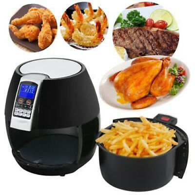 1500W Electric 3.8 Quart Air Fryer Digital LCD Screen Timer Temperature Control