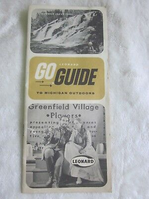 "Vintage ""leonard Go Guide To Michigan Outdoors""  ""leonard Refineries Inc. 1967"""