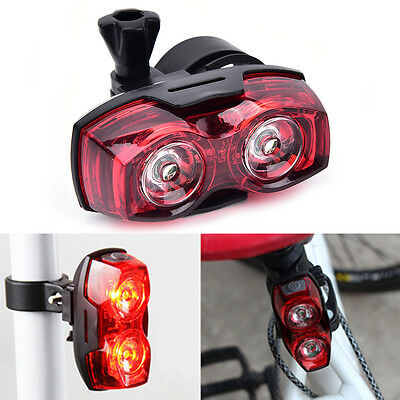 2LED bright cycling bicycle bike safety rear tail flashing back light lamp &L