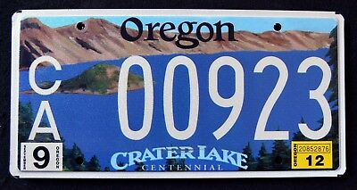 "OREGON "" CRATER LAKE NATIONAL PARK CENTENNIAL OR Specialty Graphic License Plate"