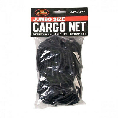 "Cargo Net 24"" X 24"" Stretchable Bungee Hooks Motorcycle ATV Quad Biker Bicycle"