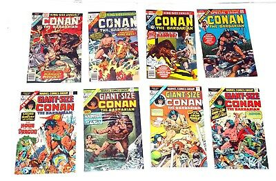 Conan The Barbarian Annual #1-4+ Giant Size #1,2,3,5 GD-FN 1970's Marvel Comics