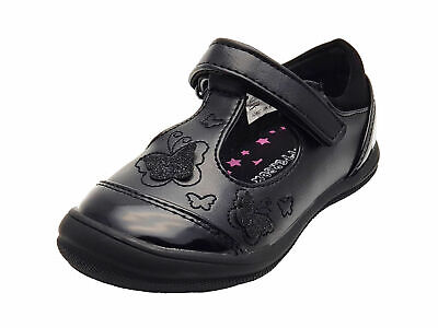 Chatterbox Girls Black Scuff Resistant School Shoes