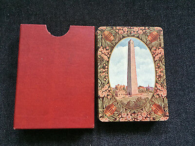 Vintage HISTORIC BOSTON Souvenir Playing Cards BUNKER HILL MONUMENT Chisholm