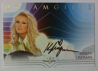 BenchWarmer 2018 Dreamgirls Update autograph card Kirsty Lingman Authentic Auto