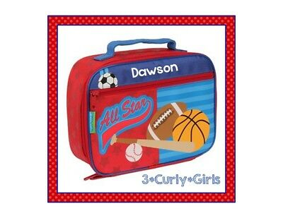 Personalized SPORTS Blue Boy's Lunchbox Stephen Joseph Toddler Soccer Lunch Box