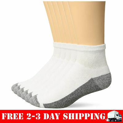 22875cff24da Hanes Mens ComfortBlend Max Cushion 6-Pack White Ankle Socks Clothing,  Shoes & Jewelry