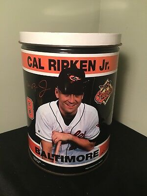 Vintage Cal Ripkin Jr Tin MLB 1996 Orioles Baltimore Container W Lid
