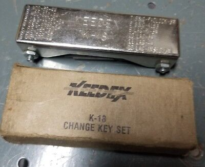 Keedex K-18 Safe Combination Lock Change Key Set