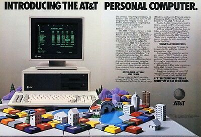 1984 Vintage Introducing the AT&T Personal Computer Print Ad