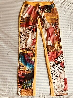 Vintage 80's Retro Italian Psychedelic Party Fancy Dress Leggings Pants Size 12