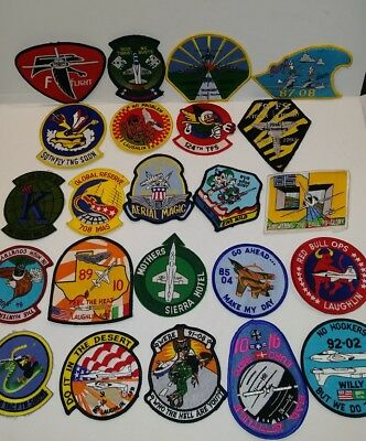 Lot of 23 Different US Air force Military Vintage Patches