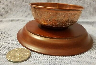 Collectable Copper Bowl with etching on side