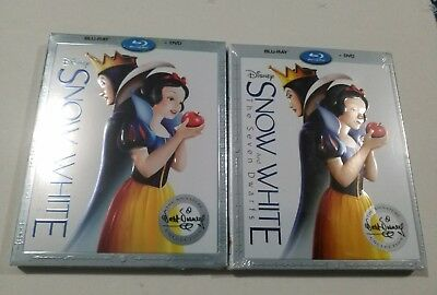 """Snow White and the Seven Dwarfs (Blu-ray + DVD) w/SLIP COVER NEW """"Family Time"""""""