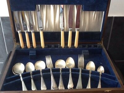 Antique Box Of Cutlery
