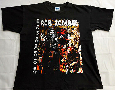 4ff6cfb084f01 Vintage Rob Zombie Hellbilly Deluxe Comic T Shirt Metal Band 1999 Size  S-2XL New