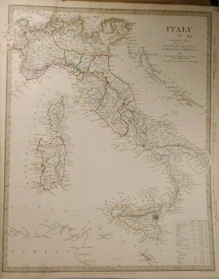 1840 Map of Italy, Italy IV and Two Additional Maps of Italy Baldwin & Gradoc
