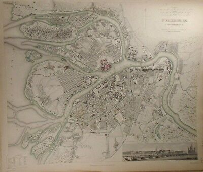 1834 Map of St. Petersburg Baldwin & Gradoc