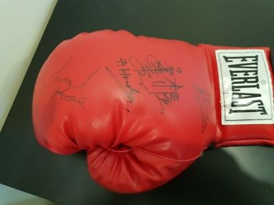 Lionel Rose, Johnny Famechon, Fighting Harada SIGNED BOXING GLOVE