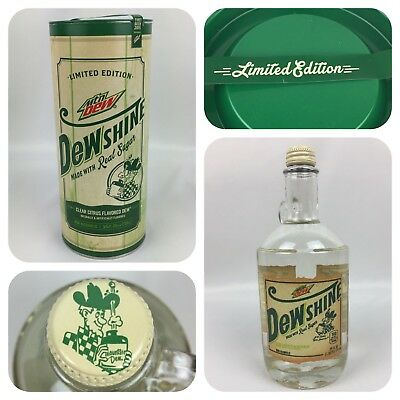 Dewshine Mountain Dew Limited Edition 2015 Novelty Collectors Item Glass Bottle