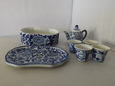 Old Chinese Blue and White Porcelain Tea Set