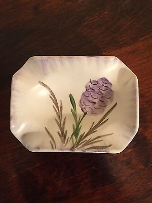 E Radford Vintage Ceramic Hand Painted Floral Dish/Ashtray