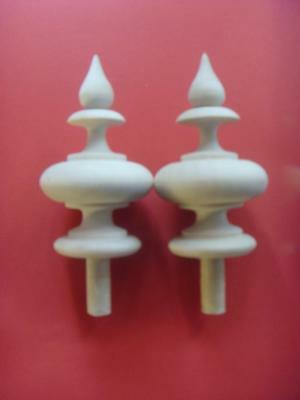 da type A1 - Pair unstained wood vienna  wall clock FINIALS / bobbins DIY