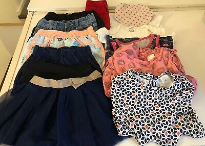 Girls Size 1 Spring/Summer Clothes Pack - 12 Pieces $2 PP Incl Postage!