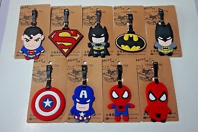 Superhero Batman Mario PVC Kids Schoolbag Travel Baggage Name Card Luggage Tags