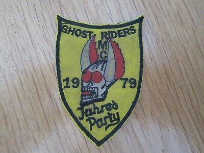 Mc Patch Ghost Riders Mc Jahresparty 1979 Kutte Patches Rocker Aufnäher