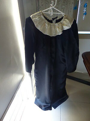 Vintage Pierrot Clown Costume - Black And White