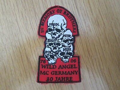 Mc Patch Wild Angel Mc Germany Memory Patch Kutte Rocker Aufnäher Biker