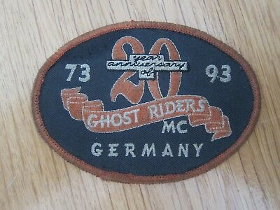 Mc Patch Ghost Rider Mc Germany 20 Years Anniversary Rocker Aufnäher Biker