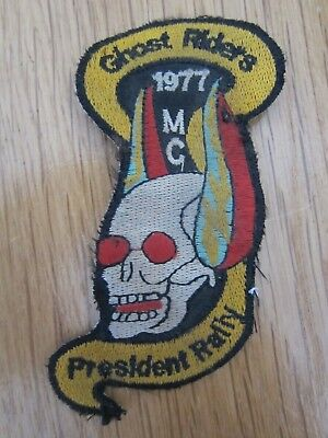 Mc Patch Ghost Riders Mc Preidenten Rally 1977  Kutte Rocker Aufnäher Biker