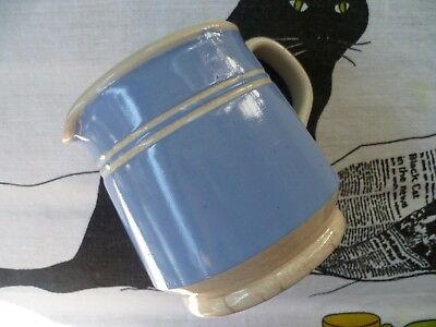 Very Early Australian Pottery Bakewells Sydney NSW Blue and White Stripe Jug