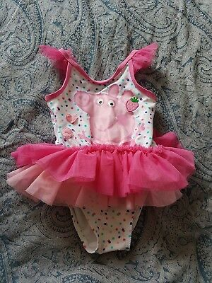 Peppa Pig Swimsuit Mothercare 18-24 Months Pink Tutu