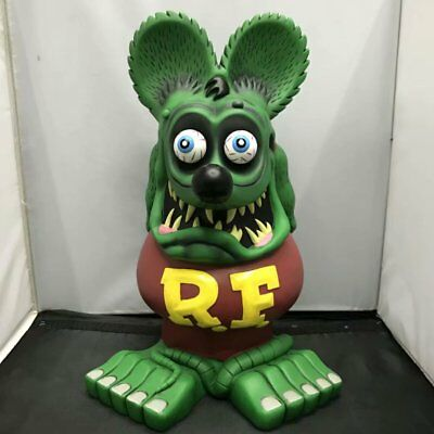 Green Rat Fink Rare 33CM Ed Roth Big Daddy Garage Kit Loose Toy Action Figure