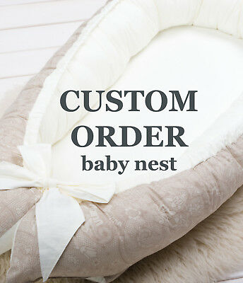 Custom order babynest bed, co sleeper portable toddler nest naps travel cot pod