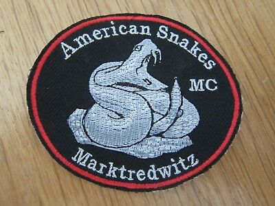 Mc Patch American Snakes Mc Marktredewitz Rocker Kutte Aufnäher Patches