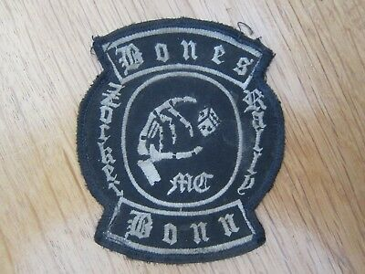 Mc Patch Bones Mc Bonn Zocker Rally Biker Rocker Kutte Aufnäher Rally Patches
