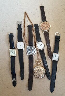 Mixed Selection of Ladies And Gents Watches. Working and For Repair or spares.