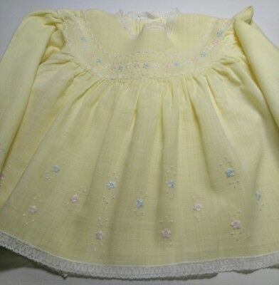 Baby vintage dress finest hand embroidered Milano Italy 1970