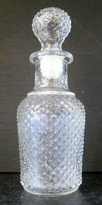 COLLECTABLE VINTAGE AVON HOBNAIL GLASS PERFUME BOTTLE with GLASS STOPPER