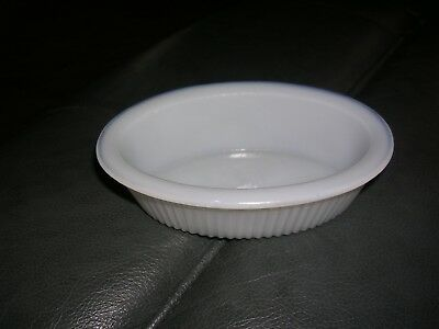 "Milk glass Oval mini baker 5 inch X 3"" inch unmarked number 1 bottom EUC antique"