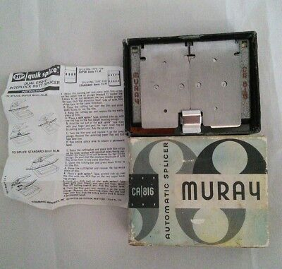 Vintage Muray CA 816 automatic film reel splicer, boxed