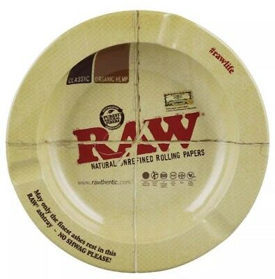 """5.5"""" Round Magnetic Metal Ashtray by Raw Natural Unrefined Rolling Papers"""