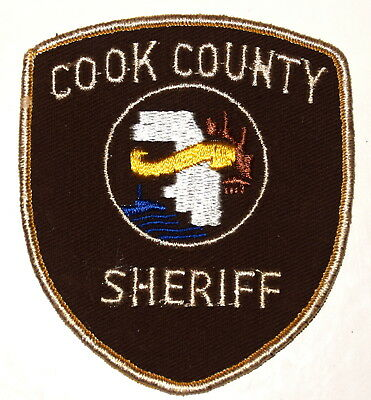 COOK COUNTY ILLINOIS IL Police Sheriff Patch COUNTY SHAPE OUTLINE VINTAGE OLD ~