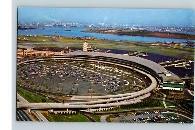 postcard LAGUARDIA airport airplane NEW YORK unposted aerial view