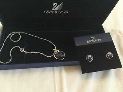 Swarovski Amethyst Silver Necklace and earrings