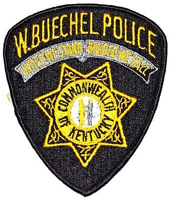 WEST BUECHEL KENTUCKY KY Police Sheriff Patch STATE SEAL HANDSHAKE STAR VINTAGE